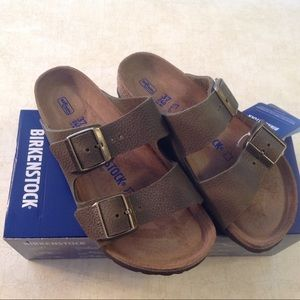 BIRKENSTOCK ARIZONA NUBUCK LEATHER SZ 37 (6-6.5)